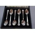 6 pcs solid silver tea spoons