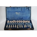 A set of 12 pcs solid silver coffee spoons