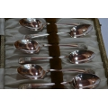 6 pcs solid silver cofee spoons with bowling motif