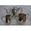 Antique silver plated 3 pcs tea/coffee set