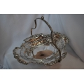 Big silver plated basket/fruit dish