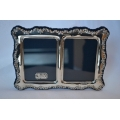 Solid silver double photo frame