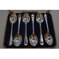 A set of solid silver tea spoons