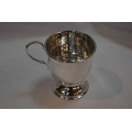 Solid silver child christening cup