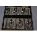 Set of silver plated teaspoons