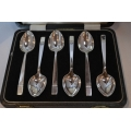Set of six solid silver teaspoons