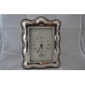 Big desk clock with solid silver frame