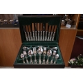 "44 pcs silver plated cutlery set ""Kings"" pattern"