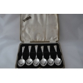 6 pcs sold silver tea spoons Rattail