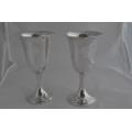 Комплект от 2 големи сребърни чаши