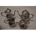 Solid silver 4pcs set for water/tea/coffee